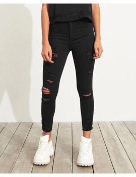 Advanced Stretch High Rise Crop Jean Leggings by Hollister
