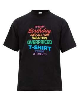 Vetements          Birthday T Shirt Multicolor by Vetements
