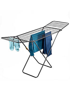 Flat Winged Airer Black by Lakeland