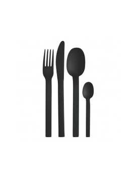 Black Finish 16 Piece Cutlery Set Black Finish 16 Piece Cutlery Set by Turini                         Turini