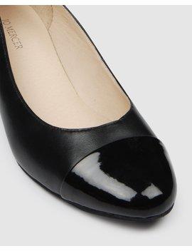 Cherry Low Heels Black Patent by Jo Mercer