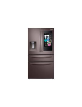 28 Cu. Ft. 4 Door French Door Refrigerator With Touch Screen Family Hub™ In Tuscan Stainless Steel by Samsung