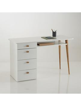 Jimi 4 Drawer Pine Desk by La Redoute Interieurs