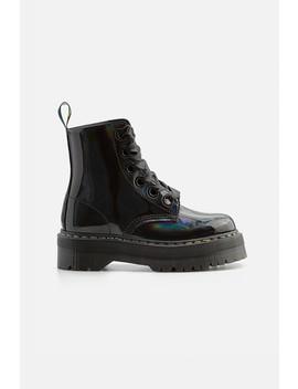 נעלי עור ריינבו סולייה מוגבהת // Dr. Martens by Adika
