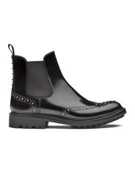Polished Fumè Chelsea Boot Stud Black by Church's Footwear