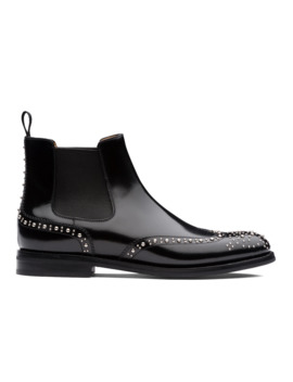 Polished Binder Chelsea Boot  Stud Black by Church's Footwear