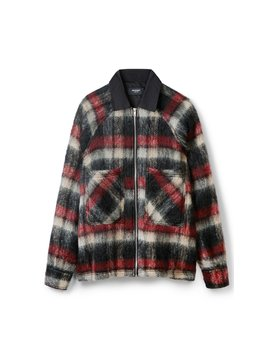 Mohair Work Shirt   Red Stripe by Represent