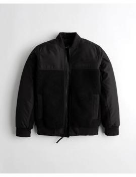 Sherpa Bomber Jacket by Hollister