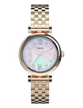 Parisienne 28mm Stainless Steel Bracelet Watch by Timex