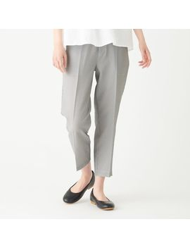 Stretch Seer Sucker Easy Tapered Trousers by Muji