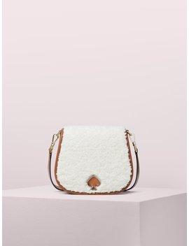 Suzy Fluffy Large Saddle Bag by Kate Spade