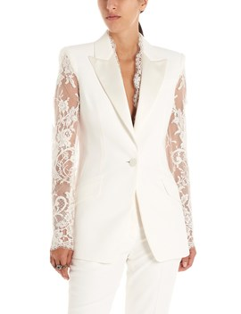 Lace Insert Jacket by Alexander Mcqueen