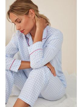 Classic Long Gingham Pyjamas + Fabric Bag by Women'secret
