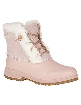 Women's Maritime Repel Suede Snow Boot by Sperry