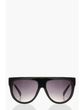 Oversized Flat Top Sunglasses by Boohoo