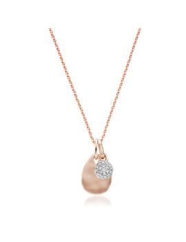 Fiji Mini Button Diamond And Ziggy Mini Pendant Charm Necklace Set by Monica Vinader