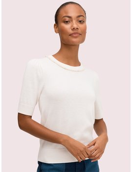 Pearl Pavé Sweater by Kate Spade