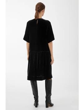 Dropped Waist Velvet Dress by Arket
