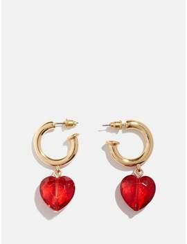Mini Heart Hoop Earrings by Skinnydip
