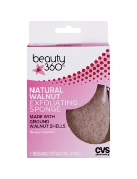 Beauty 360 Natural Walnut Exfoliating Sponge by Cvs