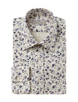 Printed Cotton Shirt by Canali Printed Cotton Shirt