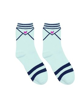 Love Letter Socks by Kokopiecoco