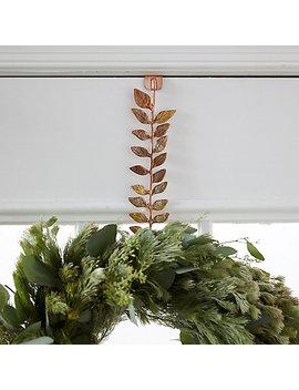 Brass Leaf Wreath Hanger by Terrain