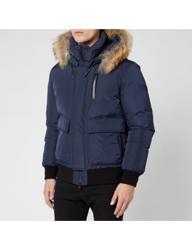 Mackage Men's Nathan Fur Down Jacket   Navy by Mackage