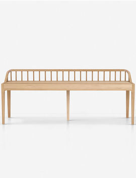 Dellah Spindle Bench, Oak by Lulu & Georgia