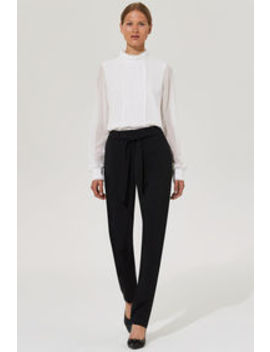 Karl Lagerfeld Paris Tie Waist Tapered Leg Trouser Karl Lagerfeld Paris Tie Waist Tapered Leg Trouser by Long Tall Sally