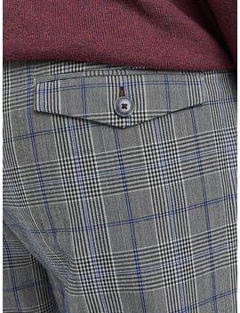 1904 Homewood Grey Check Trousers by Burton