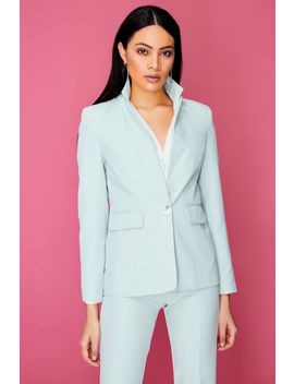 Green Tailored Single Breasted Jacket by Select