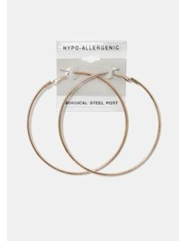 Large Rose Gold Hoop Earrings by Miss A