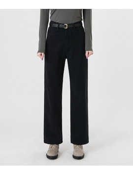 Quietlab Solid Tone Straight Cut Pant by Mixxmix