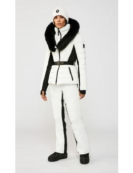 Down Ski Jacket With Removable Silverfox Fur Trim by Elitaelita