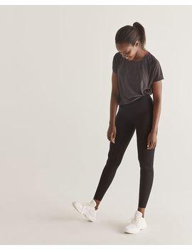 Hyba Black Cotton Namaste Yoga Leggings by Reitmans