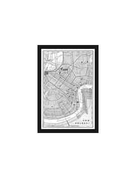 Black & White Map Of New Orleans by One Kings Lane