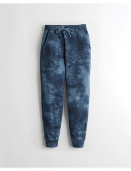 High Rise Tie Dye Fleece Joggers by Hollister