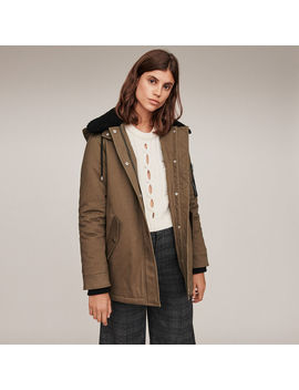 Shearling Parka With Collar by Maje