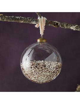 Glitter Filled Globe Ornament by Terrain