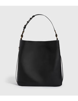 Nina Stud North South Leather Tote Bag by Allsaints