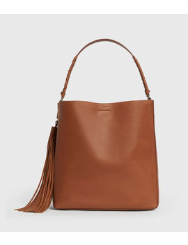 Shirley North South Leather Tote Bag by Allsaints