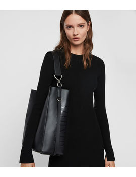 Nina North South Leather Tote Bag by Allsaints