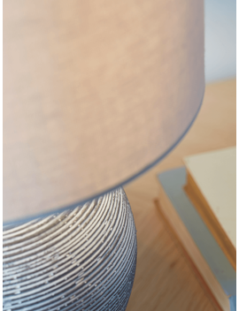 New Round Concrete Bedside Lamp by Cox & Cox