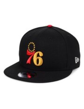 Philadelphia 76ers New Era Switch 9 Fifty Adjustable Hat   Black by New Era