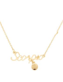 Gold Zodiac Pendant Necklace   Scorpio by Claire's