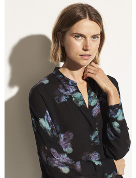 Painted Floral Blouse by Vince