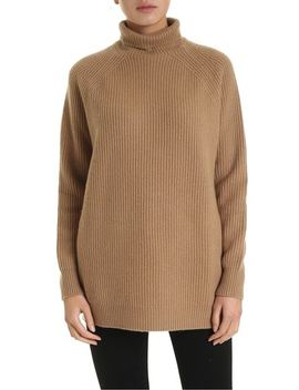 Disc Pullover In Camel Color by Max Mara
