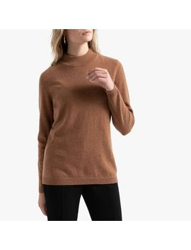 Cashmere Fine Knit Jumper With High Neck by Anne Weyburn