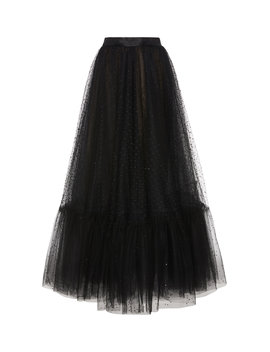 embroidered-tulle-midi-skirt by marchesa